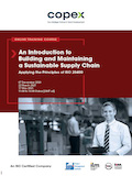 An Introduction to Building and Maintaining a Sustainable Supply Chain