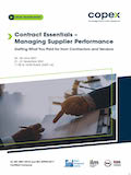 Contract Essentials – Managing Supplier Performance